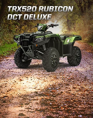TRX500 Rubicon DCT Deluxe. Iconic trail leader.