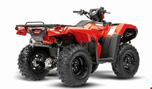 Right rear angle view of 2021 Honda TRX520 Foreman.