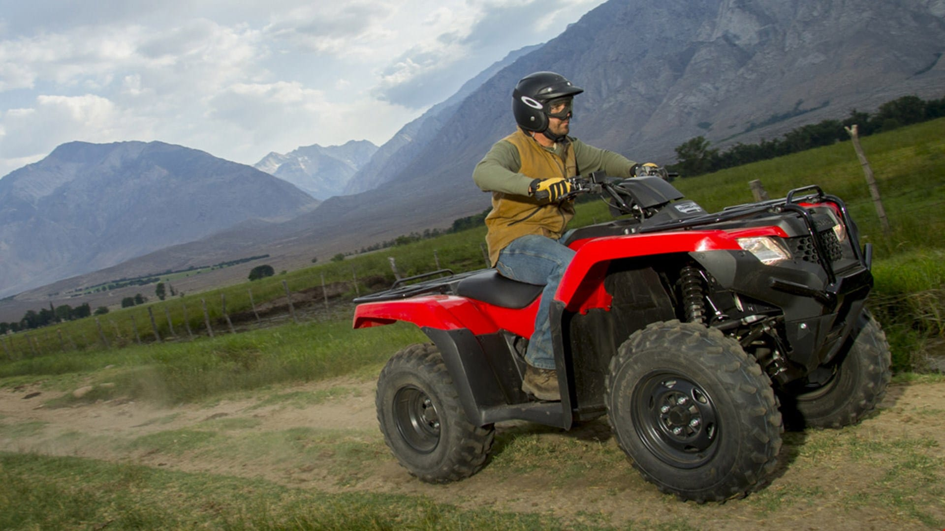 2018 honda 420 rancher. interesting 420 atv rider leaving a behind trail of dust while operating the trx420 over  hefty boulders  with 2018 honda 420 rancher