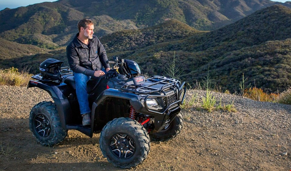 best atv dct canada deluxe foreman rubicon quading side honda model by shown
