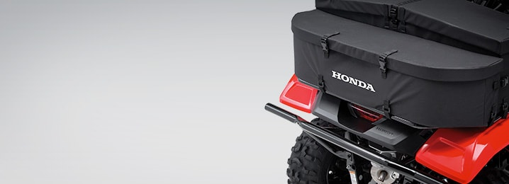 Parts and Accessories. Go the extra mile to express your style. Honda logo on back of ATV.