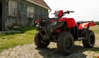 Front view of 2021 Honda TRX520 Foreman.
